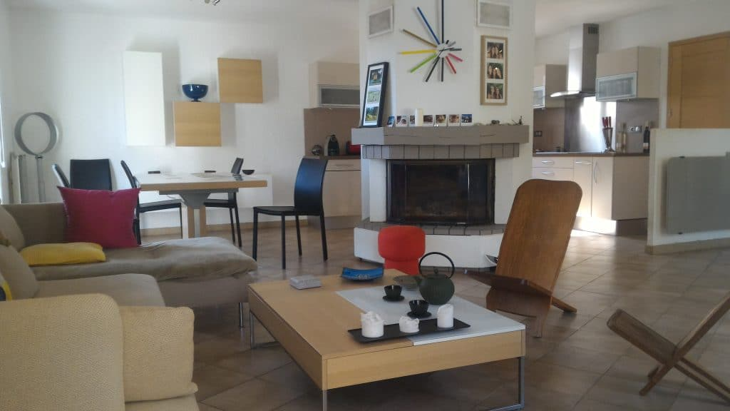 villa plain pied Teyran : Espace de vie 55m2